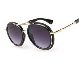 2015 retro sunglasses women brand designer gafas oculos de sol feminino masculino grau metal sun glasses round sunglass YJ135
