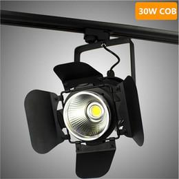 Wholesale 6pcs Lot Black shell COB 30W High Super LED Spot toggery Light   Lamp Track Light   Lamp AC85~265V