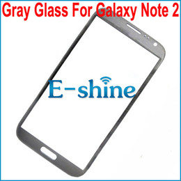 Galaxy Note 2 Gray Front Screen Glass Lens Replacement For Samsung Galaxy N7100 n7105 Note 2 Touch Screen Cover Glass