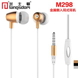 Langsdom M298 Luxury Metal 3.5mm In-Ear Stereo Earphones Earbuds Subwoofer Super Bass Headset Handsfree With Mic for mobile Phone