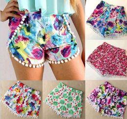 Wholesale S Fashion Hot Women s High Waist Tassel Print Beach Casual Mini floral Shorts