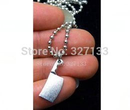Wholesale Fashion Vintage Necklace Antique Silver Alloy Kitchen Knife Necklace Pendants Fashion Necklace DIY Metal Jewelry S3658