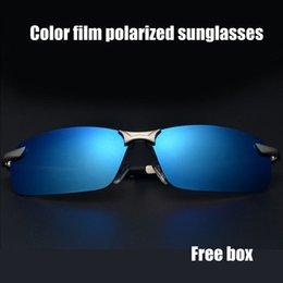 Wholesale 2014 New Brand Aluminum Polarized Sunglasses Men Sports Sunglass Color lense Sun Glasses Driving Mirror Wayfarer Goggle Oculos