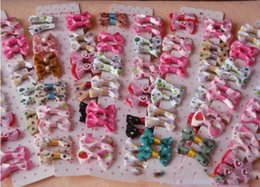Wholesale Handmade Designer Dogs accessories pet Dog Bows Dog Grooming Hair Bows Doggie Boutiqu WL