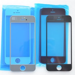 Premium Touch panel for iPhone 5 Front Outer Glass Lens Touch Screen Cover for iphone 5 5S 5C repair parts black white