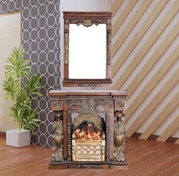 Wholesale Cheap stylish living room European style vanity dresser idyllic wedding gifts household electric fireplace dresser