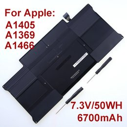Wholesale NEW Genuine Original A1405 Laptop Battery For Apple Macbook Air quot A1369 Mid A1466 Mid V Wh mAh