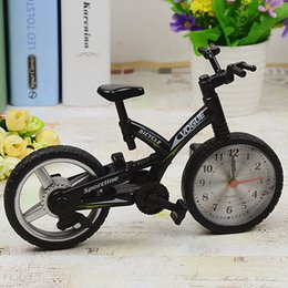 Wholesale Bicycle alarm clock the alarm clock creative bike model fashion children s clocks novelty and practical students gifts H019