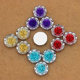 Wholesale 100pcs mm Dual color Acrylic Crystal Round Shape flower beads flatback rhinestone for DIY decoration ZZ266