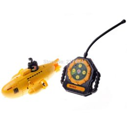 Wholesale WINTED CH Remote Control Submarine RC Nuclear Submarine Super USS Mini Navy Subs Model Toy Gift Yellow