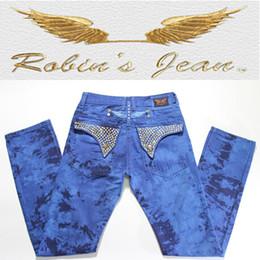 Wholesale 2015 New Robin Jeans Men s Slim Denim Famous Brand Robins Jeans With Wings American Flag Diamonds Jeans Plus Size Blue
