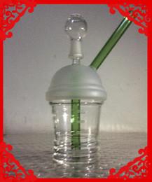 Plates-formes de verre hitman à vendre-Dabuccino rig hitman verre Sandblasted Starbuck tasse plate-forme pétrolière pipe hookah en verre mâle 14,5 mm ongles tuyaux de fumée de verre tuyau en verre d'eau