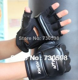 High Quality XS S M L XL Size Half Finger PU Leather Boxing Gloves Sanda Fighting Sandbag Fist Glove