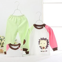 2015 autumn cotton newborn baby clothing sets 2pcs long sleeve infant suit cartoon baby girl boy clothes conjunto menino 0-24M