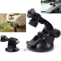 Wholesale-Gopro Accessories Hero3 Hero2 Hero4 Hero3+ Use Car Suction Cup Black Edition + Go Pro Screw +Gopro Adapter Sj6000 Sj 5000 4000