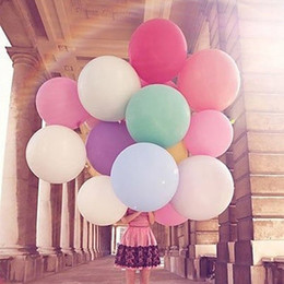 Wholesale Cheap Ballons - Wholesale-New 36 Inch 90cm Large Big Cheap Latex Ballons Party Wedding Decoration Launched Balloons Free Shipping White Pink Purple Green