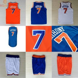 Wholesale New York Carmelo Anthony basketball jersey shorts New Material Rev30 jerseys Embroidery Stitched Shirt NA149