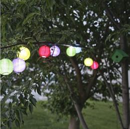 Скидка качество панели Гарден партия использования свадьбы Набор из 10 восточных круглых многоцветных солнечных нейлоновых огней - высокое качество панели солнечных батарей