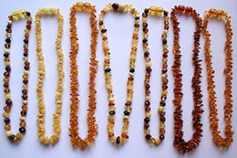 Wholesale Certified natural baltic amber baby teething necklace for infant child mixed color Anti Flammatory Drooling Teething Pain