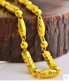 chaming yellow gold filled chain men and women necklace (pfmcgy88 ) djht