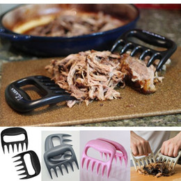 Wholesale Hot Useful Polar Bear Paws Carve Claws Meat Handle Fork Tongs Lift Shred Lift BBQ Grill Pork Randomly dandys