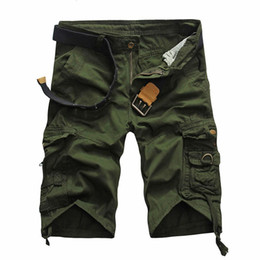 Wholesale S5Q Mens Casual Loose Camouflage Vintage Overalls Summer Big Yards Shorts Pants AAAFOA