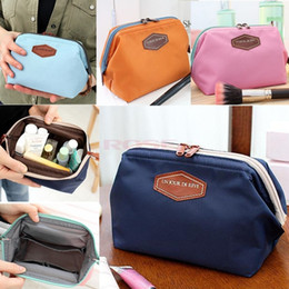 Wholesale-Best-Selling Women's Makeup Cosmetic Cases Fashion Travel Kit Solid 4 Colours Organizer Bag For Lady Small Zipper Cosmetic