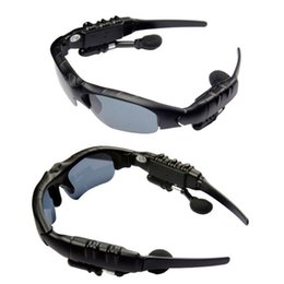 Updated Sports Sunglasses Glasses Wireless Bluetooth Headset Music Foldable Hi-Fi Headphone Handsfree for iPhone Smart Cell phones