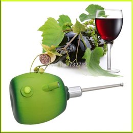 Wholesale Bar sets Green Apple Multifunction Wine Decanter Aerating Stainless Wine Aerator Pourer