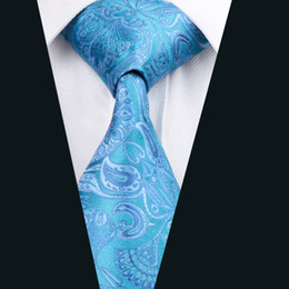 Top Selling Blue Silk Tie Jacquard Woven 8.5cm Width Mens Necktie Business Casual Party Formal D-0368