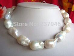 Wholesale Fast Real Fine Pearsl Jewelry huge natural mm Australian south sea white pearl necklace inch K