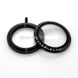 Black Oil Stainless Steel Twist Screw Round Living Locket With Crystals Memory Lockets Top Quality Living Lockets
