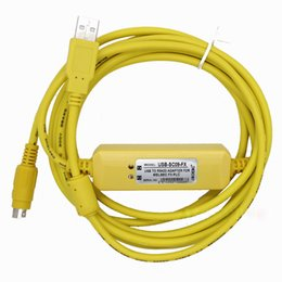 Wholesale Hot Sale NEW USB SC09 FX PLC Programming Cable For Mitsubishi MELSEC SC SC09 FX0N N N FX0S S FX3U Support Win7
