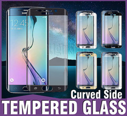 Wholesale 2016 MM Galaxy S7 edge Full Screen Protector Tempered Glass S6 edge Plus Cover Whole Screen Curve Screen Protector With Retail Package