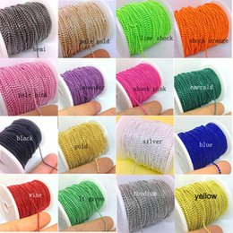Wholesale Metal Ball Chain Yards mm Colored Plated For Necklace Jewelry Findings Bulk You Pick Colors