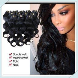 Big Discount Peruvian Body Wave Hair Extensions 50g pc 6pcs Peruvian Natural Black Color#1B Hair Muse Hair Make you Sexy Look 3,4,5pcs lot