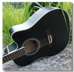 Wholesale 41 inch AG41 black basswood folk acoustic guitar Beginners to practice piano jita instrument manufacturers selling