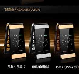 Wholesale classic flip cell phone mobile cell phone no smart long standby time dual sim card dual standby dual screen flip phone three colors