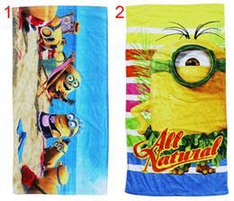 Wholesale Hot cm Despicable Me Minions cotton towels bathroom beach towel kids bath towel designs Stuffed Plush Toy