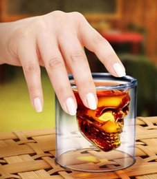 Wholesale Hot Doomed Crystal Skull Head Vodka Shot Glass Pirate Vaccum Glasses Beer Mug Ounces ML Cup Drinking Ware Home Bar HHA35