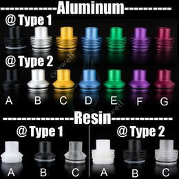 Aluminum Tobh Atty Drip Tips Big chief chuff top cap fit for 22mm tobh atty rda atomizer Resin Dripper Mutation x Vulcan Stillare Atty