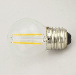 Hot Sale!!! Free Shipping Dimmable 2W 4W E27 E14 Clear Cover Frosted Cover LED Bulb Light COB LED Filament led bulb lamp 10pcs