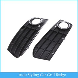 Wholesale Auto Styling Car Grill Badge Led B8 Bumper Fog Light Grill Grille Non sline Left amp Right C363