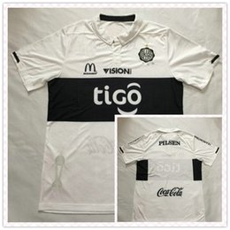 Wholesale Top Fast Thailand Primera Division de Paraguay Olimpia Asuncion Home White Soccer Jersey Full Shirt