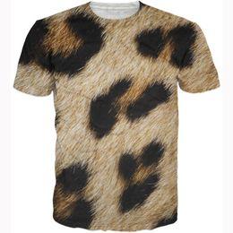 FG1509 Women men fashion leopard fur t shirts summer casual crewneck tees animal leopard print design 3d t shirt hip hop tops tshirts