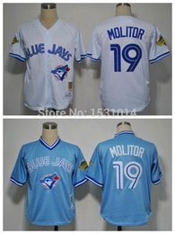 Wholesale 2016 New Throwback Cheap Paul Molitor Jersey Toronto Blue Jays Baseball Jerseys Paul Molitor Stitched Jersey Mitchell Ness