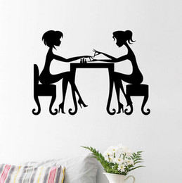 2015 fashion girls nails 59*42cm waterproof removable environment living room home Wall Sticker Decor