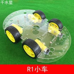 Wholesale R1 car DIY robot making intelligent line patrol car WD Chassis Assembly model toy car