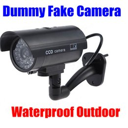 Wholesale Fake camera Dummy Emulational Decoy Outdoor bullet CCTV IR Wireless HOME Security Cameras Flash light Red Led flashes