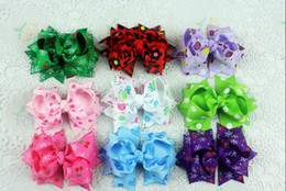 Wholesale Small Grosgrain Hair Bows - 15% off hot sale 3inch grosgrain ribbon baby girl small hair bowknot children hair clips baby hair accessories drop shipping 50pcs